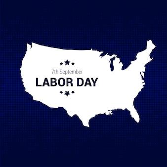Labor day stati uniti d'america vettore
