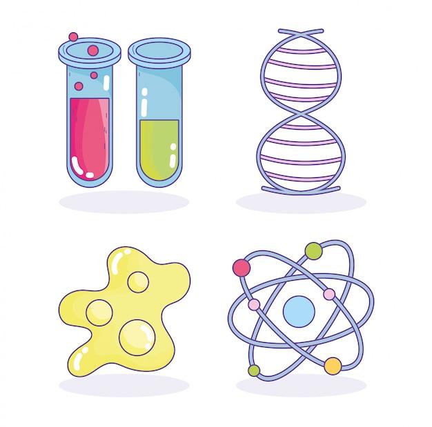 Laboratorio di ricerca di scienza genetica del dna molecola in provetta