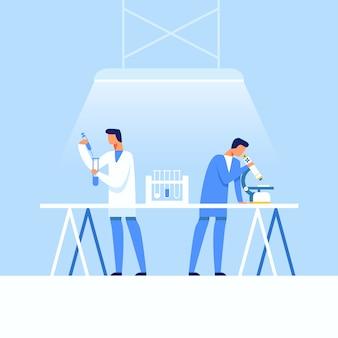 Laboratorio di ricerca medica e creazione di farmaci