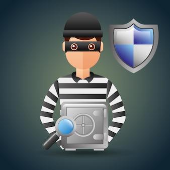 Ladro della sicurezza informatica