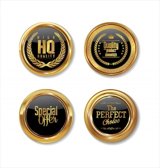 Lamiere in metallo di alta qualità collezione dorata