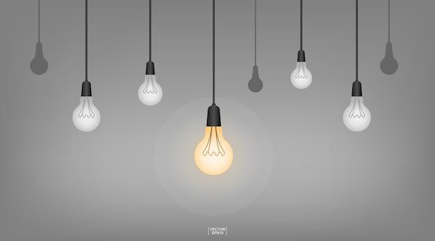 Lampada da soffitto a sospensione astratta lampadina per idea di decorazione d'interni.