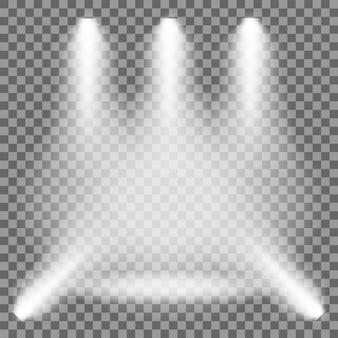 Lampada di illuminazione su uno sfondo isolato