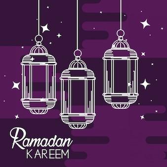 Lampade sospese a ramadan kareem