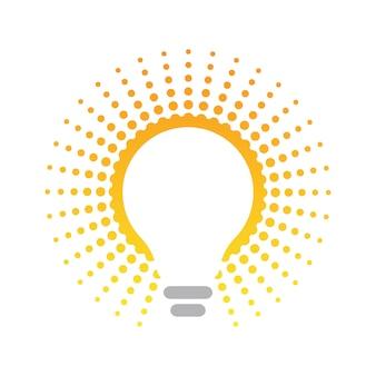 Lampadina, concetto di energia rispettoso