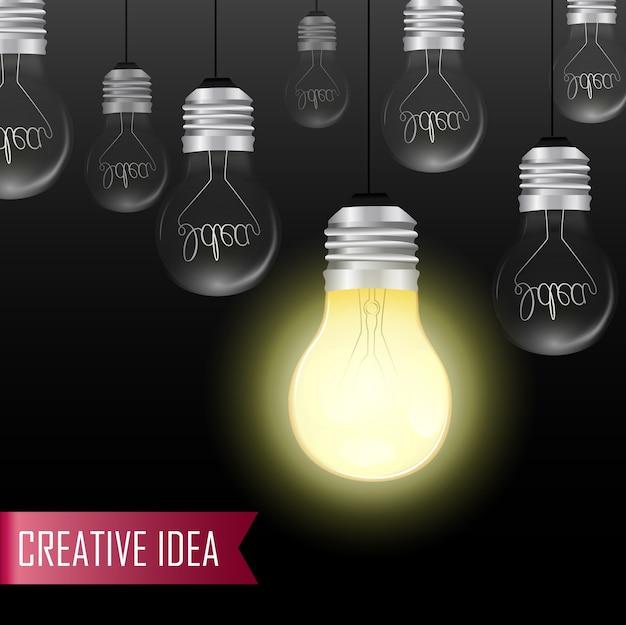 Lampadina creativa idea concept