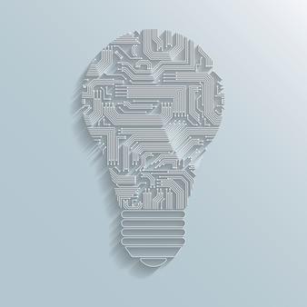 Lampadina del circuito stampato