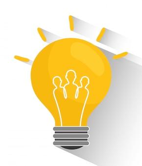 Lampadina e grandi idee