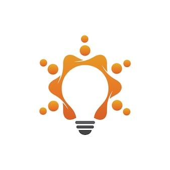 Lampadina logo vettoriale