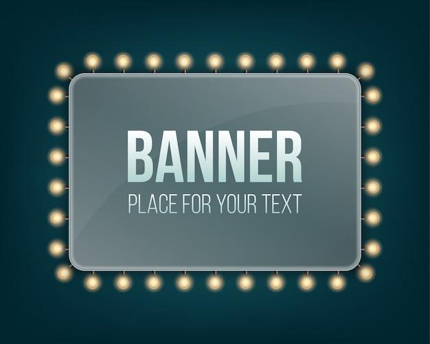 Lampadine a lustro lampadine banner luci cartellone.