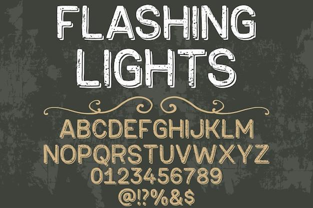 Lampeggiatori disegnati a mano tipografia disegno tipografia vettoriale