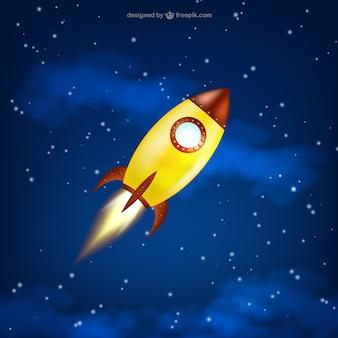 Lancio di razzo spaziale