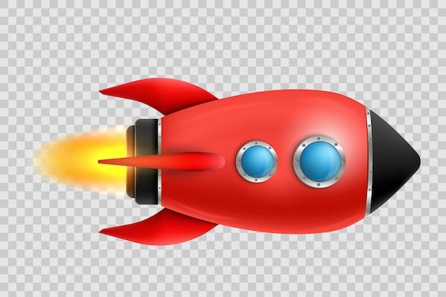 Lancio di una nave spaziale razzo 3d esplorazione spaziale