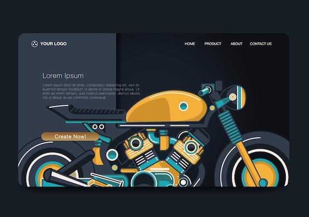 Landing page classic moto concept