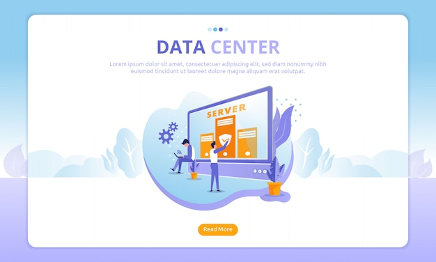 Landing page del data center