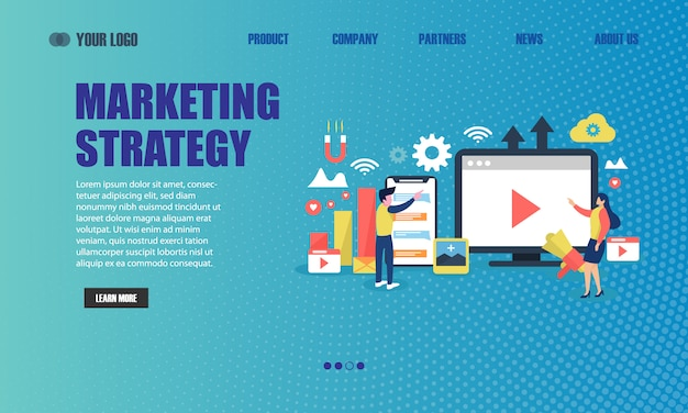 Landing page della strategia di marketing online