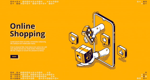 Landing page dello shopping online