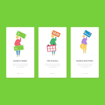 Landing page design: finanza, pianificazione e investimenti