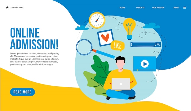 Landing page di ammissione online