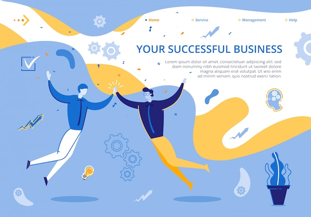 Landing page illustration il tuo business di successo