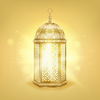 Lanterna araba oro realistico singolo