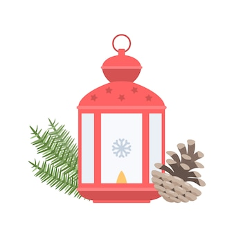 Lanterna di natale con un cono