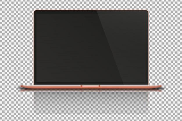 Laptop su trasparente.