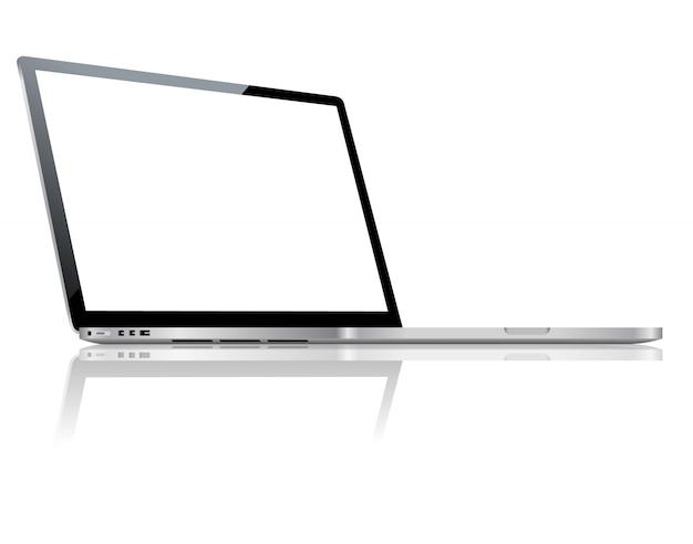 Laptop vettoriale isolato.