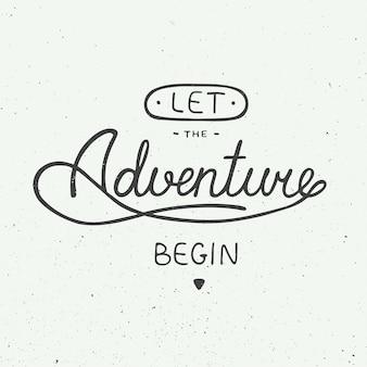 Lascia che l'avventura abbia inizio in stile vintage