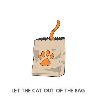 Lascia il gatto fuori dalla borsa