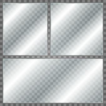 Lastra di vetro su sfondo trasparente