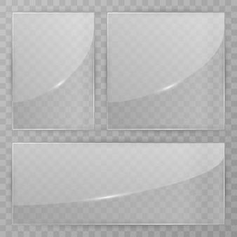Lastra di vetro su trasparente