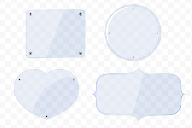 Lastre di vetro di diverse forme