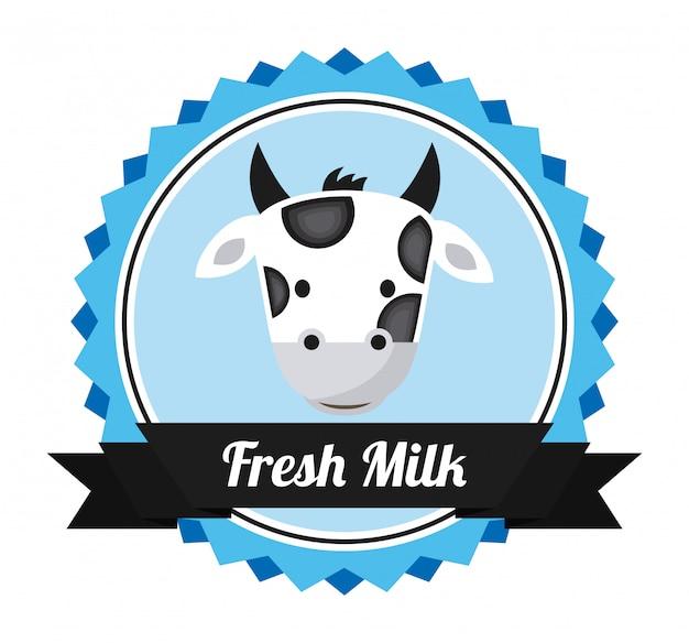 Latte design su sfondo bianco