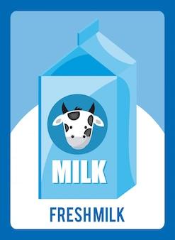 Latte design su sfondo blu