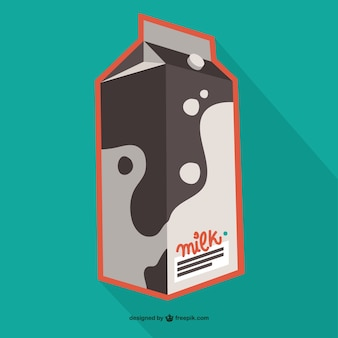Latte in cartone vettore