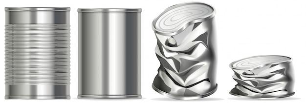 Lattina di alluminio senza etichetta