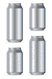 Lattine di alluminio realistico