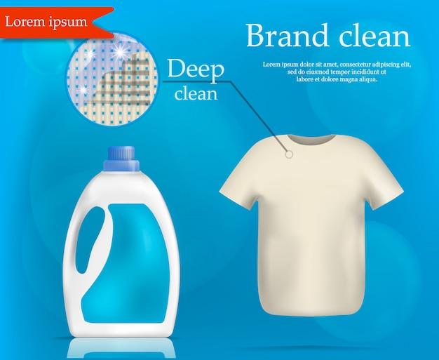 Lavaggio di marca concetto pulito, stile realistico