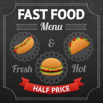 Lavagna di fast food