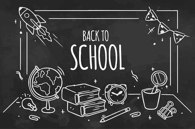 Lavagna torna a scuola sfondo con messaggio