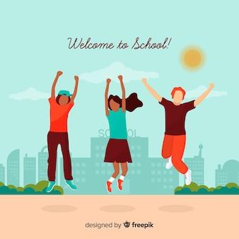 Lavagna torna a scuola sfondo