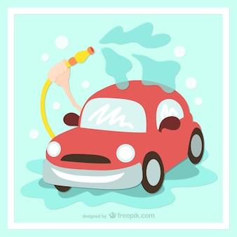 Lavare l'auto cartone animato