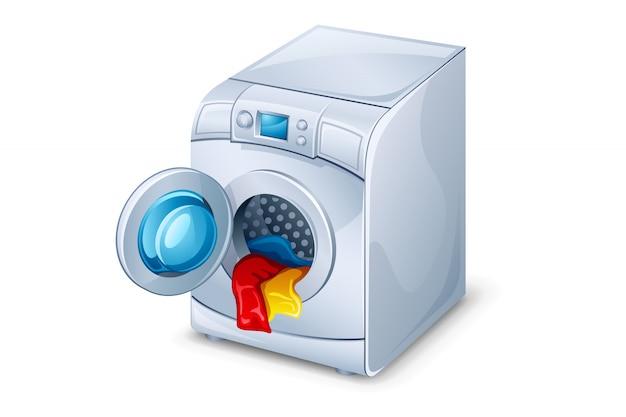 Lavatrice con vestiti