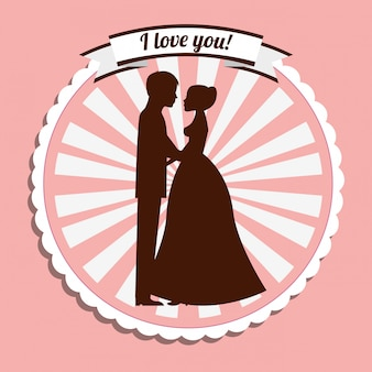 Lavel dell'invito di nozze