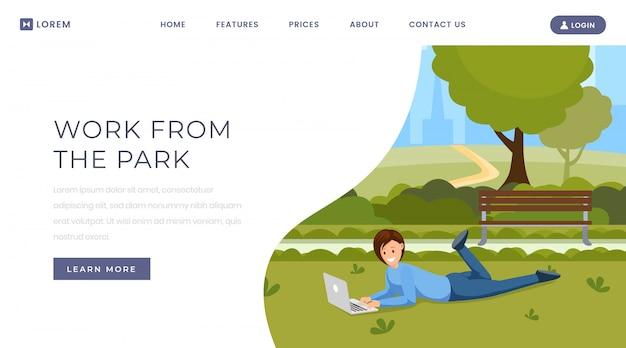Lavora dal modello della pagina di destinazione del parco
