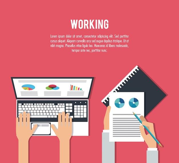 Lavorando sulla progettazione di laptop