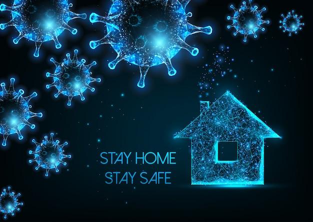 Lavorare da casa, auto quarantena a causa del concetto di pandemia di coronavirus