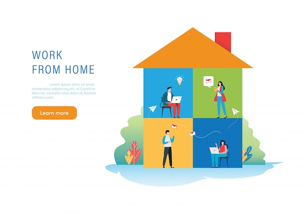 Lavorare da casa. covid19. coronavirus