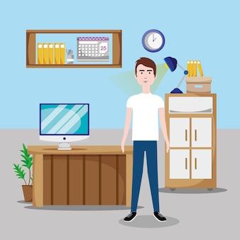 Lavoratore all'interno dell'ufficio